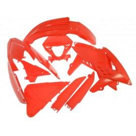 Kit completo de plástico rojo RR 2013 al 2017