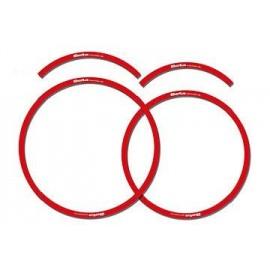 Adhesivos universales para llantas rojo