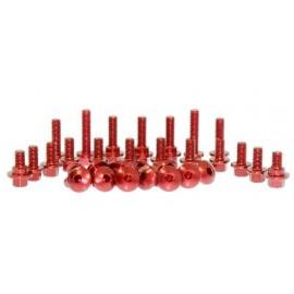 Kit tornillos CNC rojo chasis y plástica 2013 al 2017